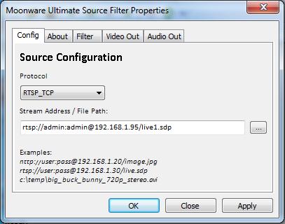 Moonware Universal Source Filter (Directshow Filter